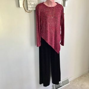 Bobbie Brooks Red Burgundy Top